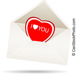 Envelope with love postcard