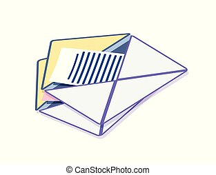 Envelope with Message, Correspondence Information