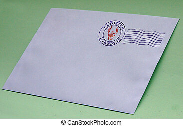 blackmail for extortion - Envelope with postal stamp...