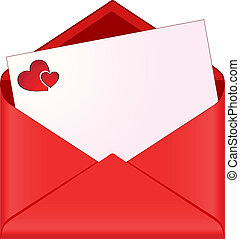 envelope with romantic stationery