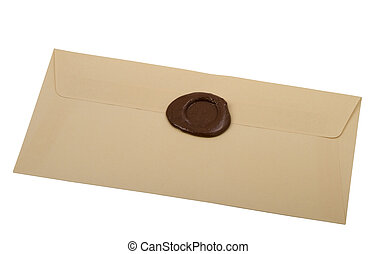 envelope  with  sealing wax stamp