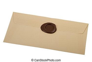 envelope  with  sealing wax stamp