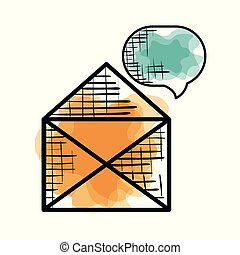 envelope with speech bubble