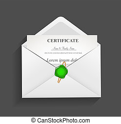 Envelope with  Stamp Vector Illustration
