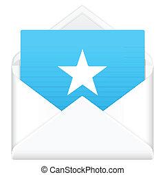 envelope with star symbol