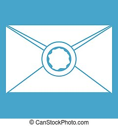 Envelope with wax seal icon white