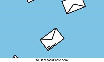 Envelopes falling down HD animation - Envelopes falling down...