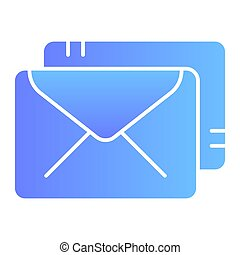 Envelopes flat icon. Mail color icons in trendy flat style. Post gradient style design, designed for web and app. Eps 10.