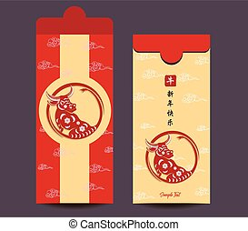 Envelopes for Happy chinese new year and luna new year 2021...