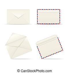 Envelopes icon on white background