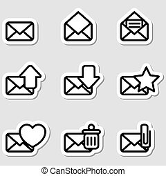 Envelopes Icons as Labels