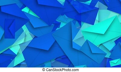 Envelopes in blue color