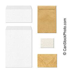 envelopes mockup template, white background