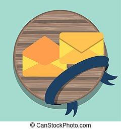 envelopes postal service isolated icon