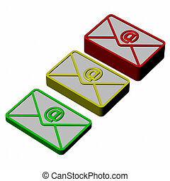 Envelopes with sign e-mail
