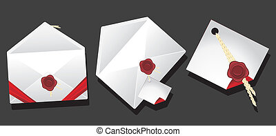 Envelopes with wax seal