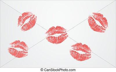 enveloppe, baiser