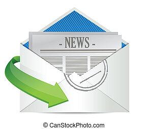 enveloppe, binnen, papier, open, nieuws