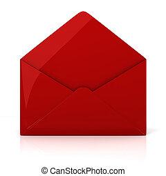 enveloppe blanche, fond, 3d