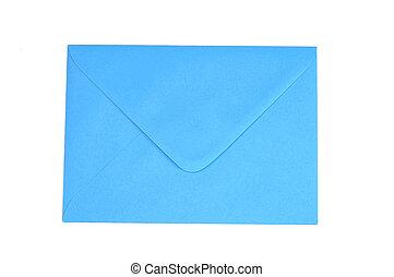 enveloppe bleue bleu blanc isloated fond enveloppe. Black Bedroom Furniture Sets. Home Design Ideas