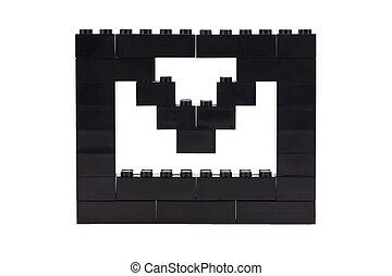 enveloppe, bonne, blocs, lego