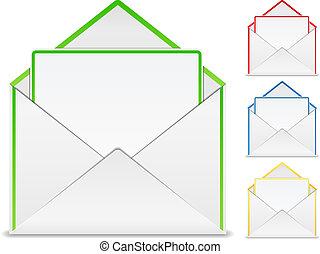 enveloppe, carte, vide
