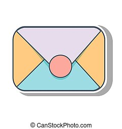 enveloppe, courrier, conception