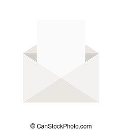 enveloppe, dessin animé, vide, lettre