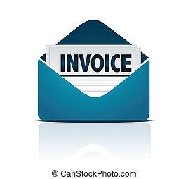 enveloppe, facture