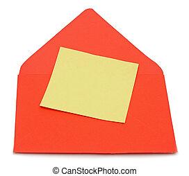 enveloppe, lettre, vide