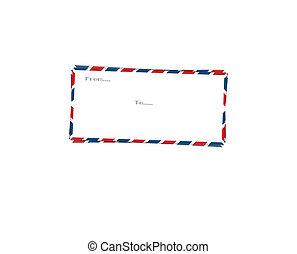 enveloppe, poste, couverture, lettre
