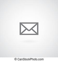 enveloppe, symbole, courrier
