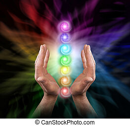 enviando, chakra, cura, energia