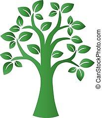 environ, albero, verde, logotype