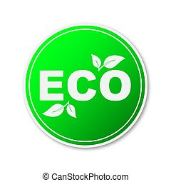 environment., 味方, デザイン, ベクトル, element., eco