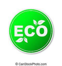 environment., amichevole, disegno, vettore, element., eco