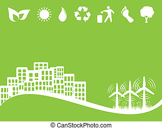 Environment and Eco Symbols - Alternative clean energy with...