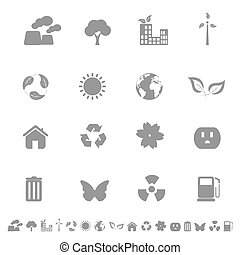 Environment and Ecology Icons - Environment and ecology...