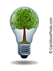 Environment and green energy ecological symbol of ...