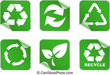 environment and recycle icons