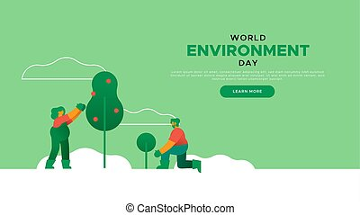 Environment Day landing page template