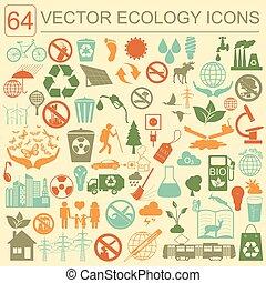Environment, ecology icon set