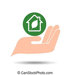 environment friendly concept green house vector illustration...