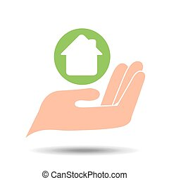 environment friendly concept house vector illustration eps...