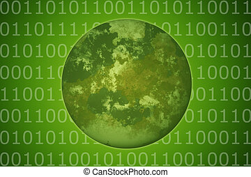 Environment Friendly Technology on Earth Abstract Background