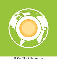 environment globe warming icon graphic