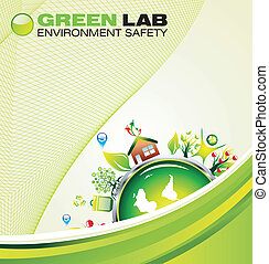 Environment Green Background - environment safety background...