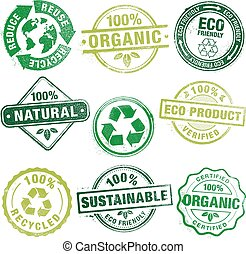 Environment Grunge Stamps