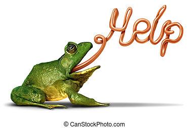 Environment Help - Environment help symbol as a green frog...