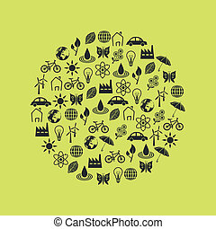 environment icons in circle